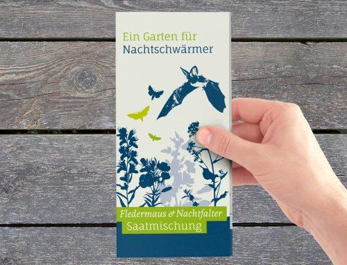 Flyer Fledermaus-Saatmischung