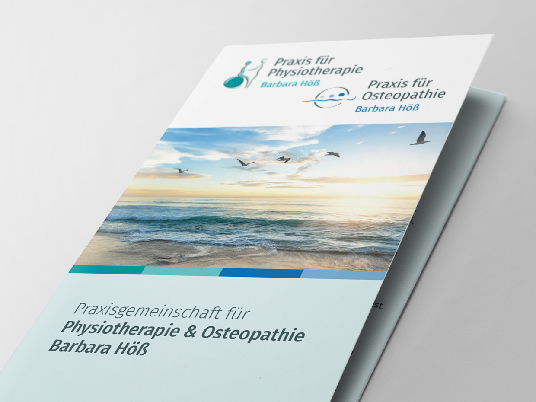 flyerdesign physiotherapie osteopathie