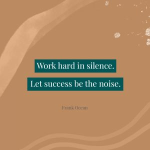 Quote Success Silence