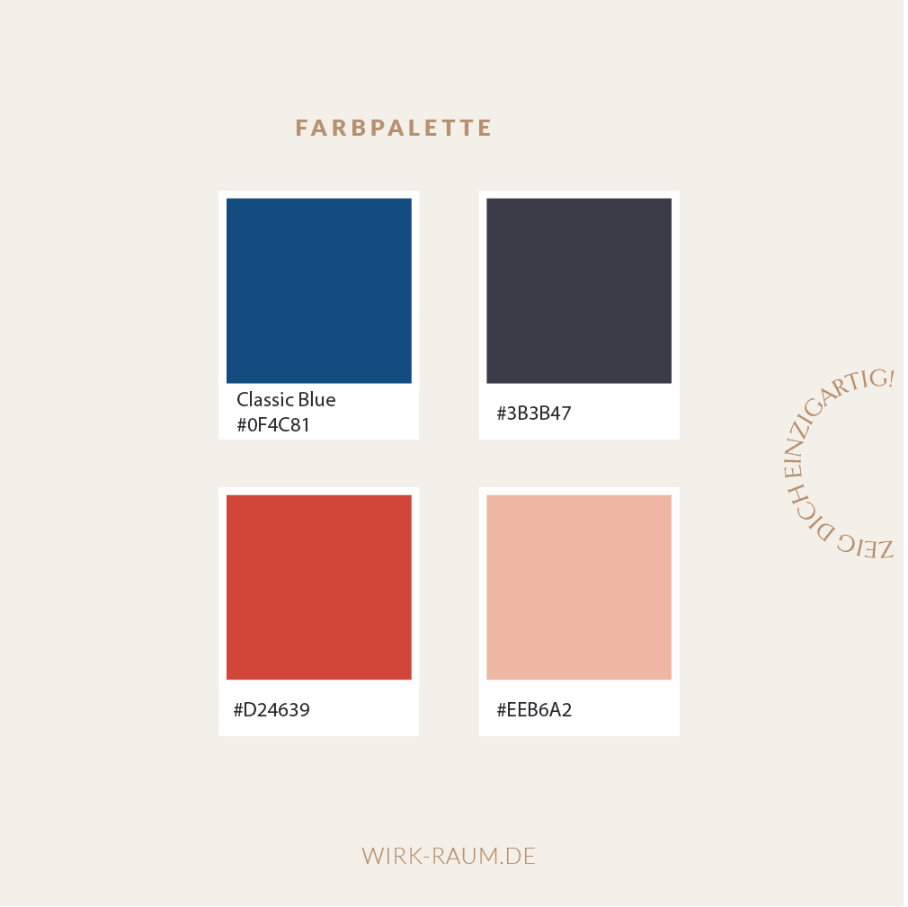 Farbpalette feminin Branding